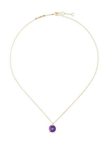 Fioletowy złoty naszyjnik z diamentem Delfina Delettrez