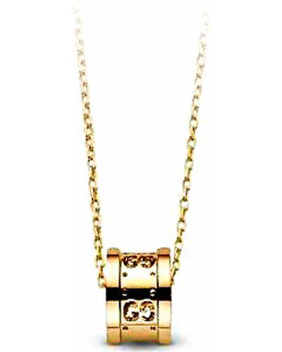 Różowy złoty naszyjnik Gucci