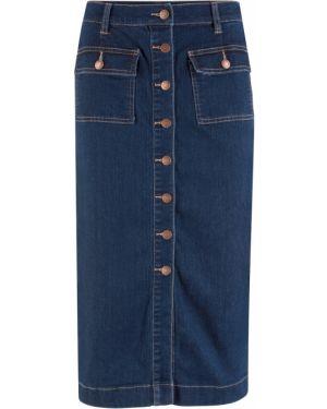 Юбка миди джинсовая макси Bonprix