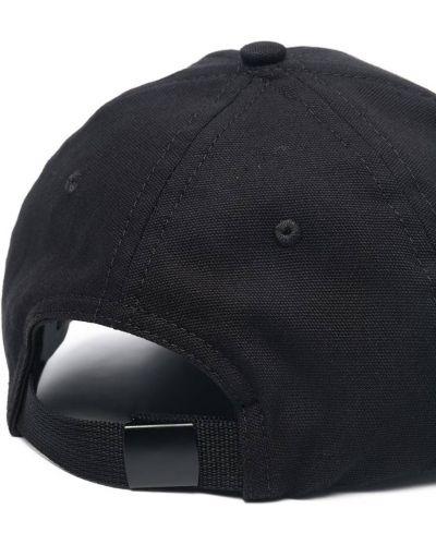 Хлопковая черная кепка Stone Island Junior