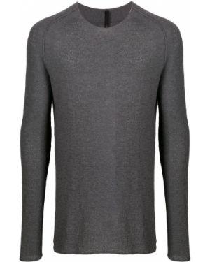 С рукавами серый кашемировый свитер с вырезом Forme D'expression