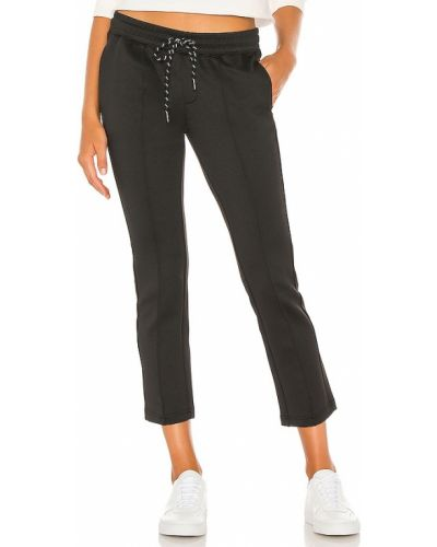 Черные палаццо до середины колена с карманами Pam & Gela