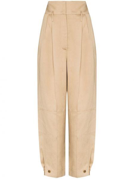 Szerokie spodnie z wysokim stanem z kieszeniami Givenchy
