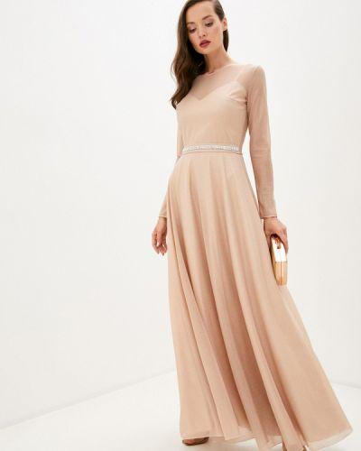 Бежевое вечернее платье Seam