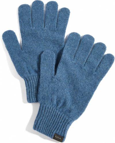 Шерстяные синие перчатки Paul Smith