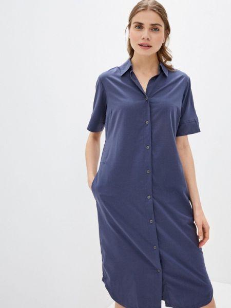 Платье платье-рубашка синее Columbia
