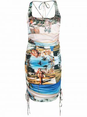Зауженное платье без рукавов с принтом Esteban Cortazar