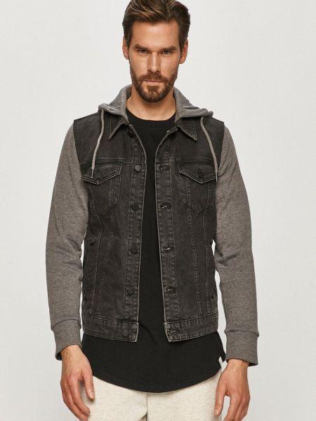 Серая с рукавами джинсовая куртка с капюшоном Only & Sons