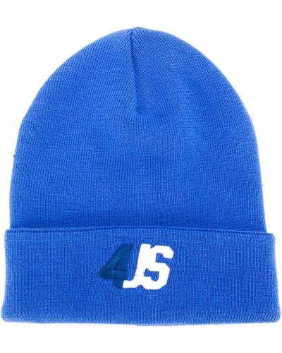 Тонкая хлопковая синяя шапка с вышивкой Cesare Paciotti 4us Kids