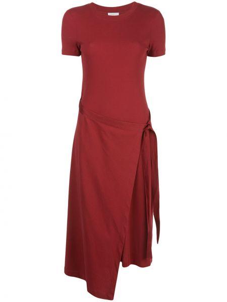 Фиолетовое расклешенное платье мини с вырезом с короткими рукавами Rosetta Getty