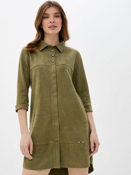 Платье платье-рубашка зеленый Shelter