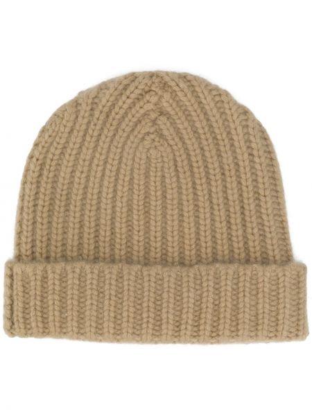 Кашемировая теплая шапка бини в рубчик Warm-me