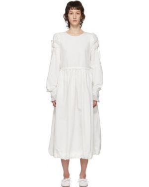 Платье макси с вышивкой с воротником с манжетами Renli Su