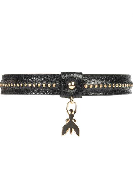 Черное кожаное ожерелье Patrizia Pepe