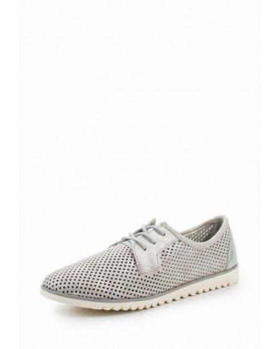 Ботинки замшевые серебряного цвета Tamaris