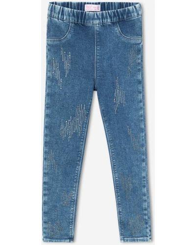 Облегающие зауженные джинсы - синие Gloria Jeans