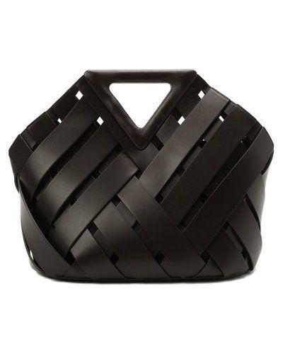 Коричневый кожаный топ Bottega Veneta