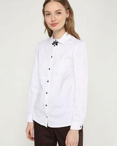 Белая блузка с воротником на пуговицах Electrastyle