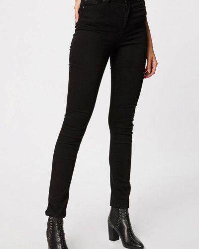 Черные джинсы с высокой посадкой Morgan