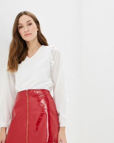 Блузка с длинным рукавом белая итальянский Hellen Barrett