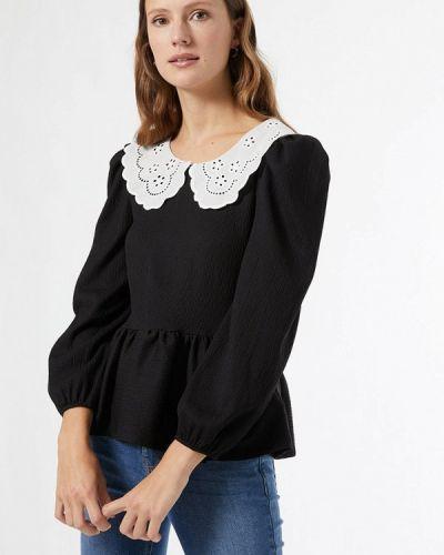 С рукавами черная блузка Dorothy Perkins