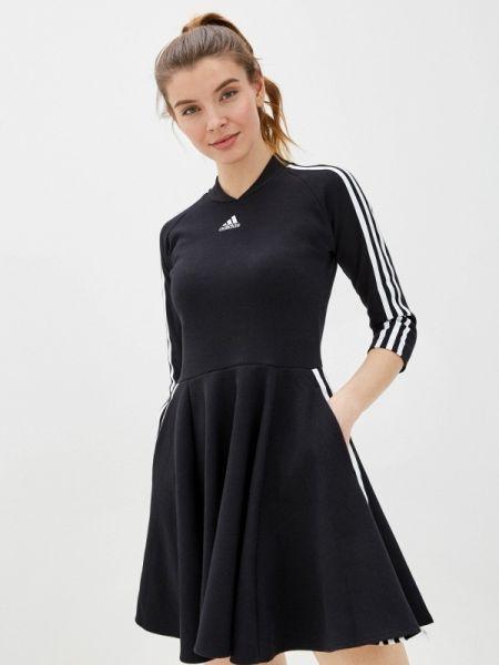 Платье черное весеннее Adidas