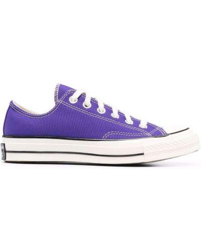 Кеды на шнуровке - фиолетовые Converse
