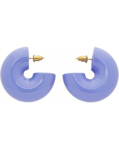 Лаковые фиолетовые серьги-гвоздики Uncommon Matters