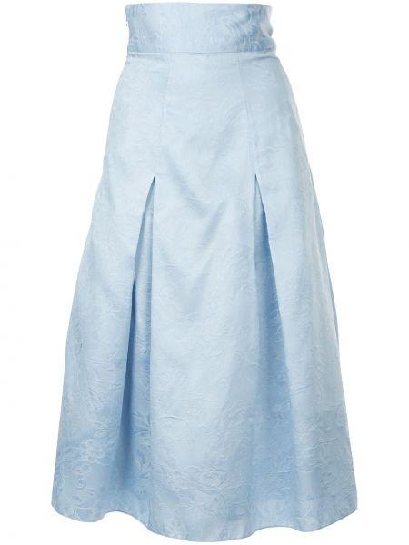Плиссированная юбка миди пачка Bambah