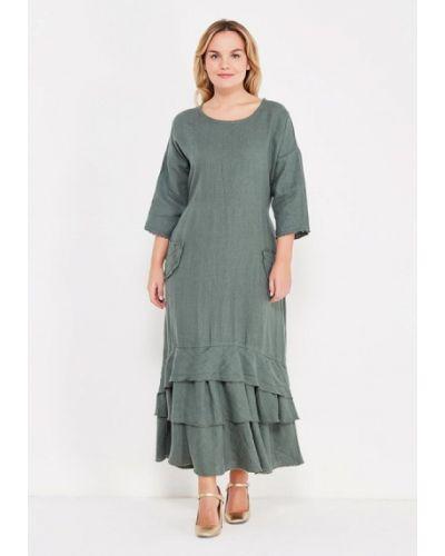 Платье осеннее зеленый Kayros
