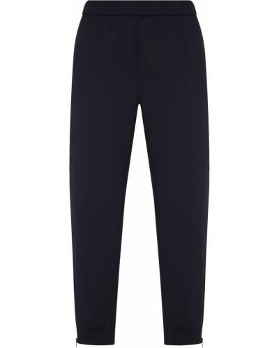 Спортивные брюки черные зауженные Prada