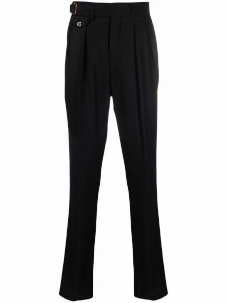 Czarne spodnie z wiskozy Lardini