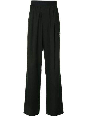 Черные свободные брюки с нашивками свободного кроя с высокой посадкой We11done
