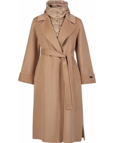 Пальто с капюшоном - бежевое Peserico