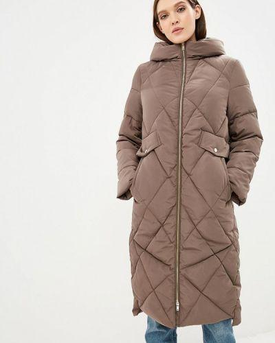 Зимняя куртка осенняя коричневая Zarina