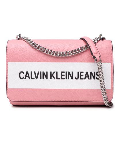 Różowa torebka wizytowa Calvin Klein Jeans
