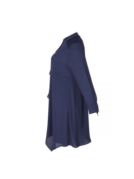 Фиолетовая туника с длинными рукавами мембранная оверсайз круглая Mat Fashion