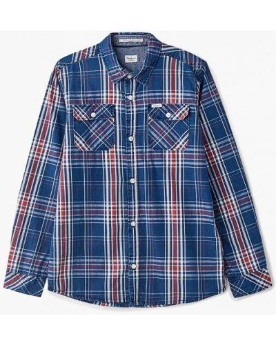 Синяя рубашка Pepe Jeans