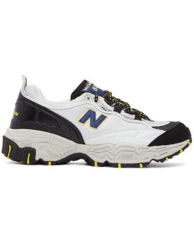 Skórzane sneakersy z siatką z logo New Balance