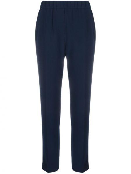 Синие брюки с поясом узкого кроя Antonelli