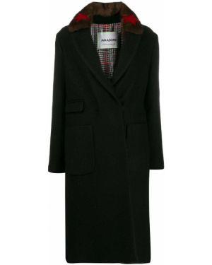 Длинное пальто без воротника с принтом Ava Adore