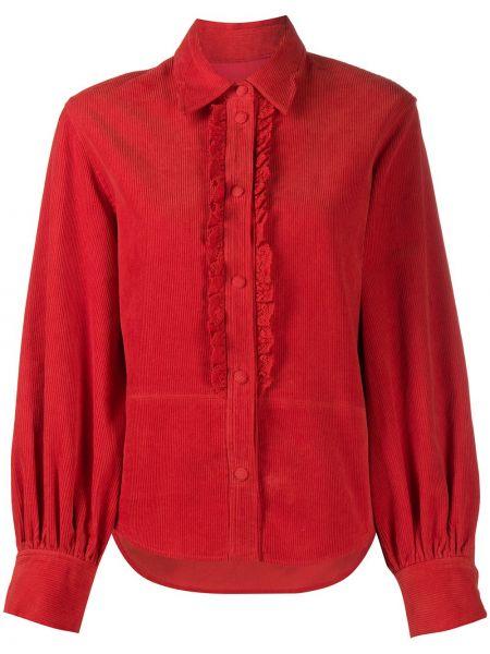 Klasyczna klasyczna koszula bawełniana z długimi rękawami Pushbutton