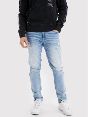 Mom jeans - niebieskie American Eagle