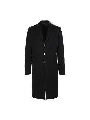 Długi płaszcz wełniany - czarny Givenchy