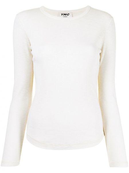 Biała t-shirt bawełniana Ymc