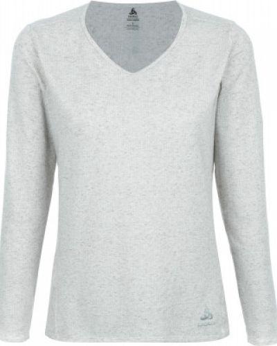 Спортивная футболка серая в полоску Odlo