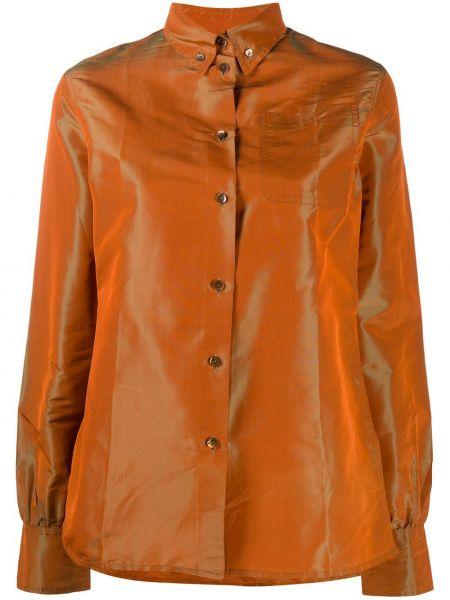 Оранжевая рубашка с воротником с карманами на пуговицах Jean Paul Gaultier Pre-owned