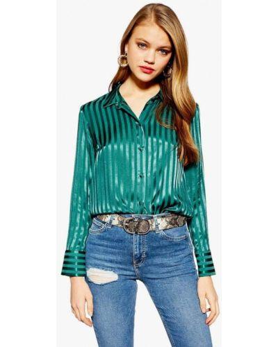 Зеленая блузка с длинным рукавом Topshop