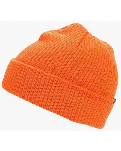 Оранжевая шапка осенняя Vans