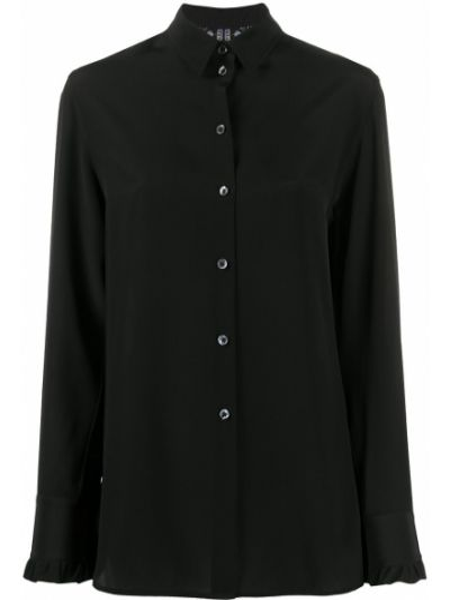 Шелковая черная классическая рубашка с воротником Paul Smith
